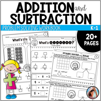 Addition and Subtraction Workbook with Problem Solving Activities