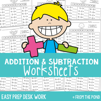 Simple Addition And Subtraction Worksheets Teaching Resources ...