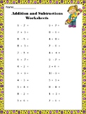 BACK TO SCHOOL - Addition and Subtraction 1 to 20 - 10 Worksheets CCSS