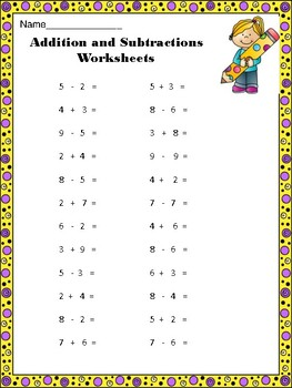 WINTER MATH FUN - Addition and Subtraction 1 to 20 - 10 Worksheets CCSS 2.OA.B.2
