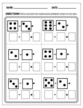 Addition and Subtraction Worksheets: Dice Bundle