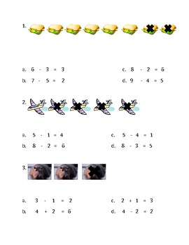 Addition and Subtraction Worksheets (Multiple Choice)