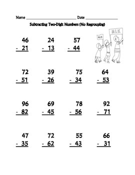 Addition and Subtraction Worksheets (Two-Digit) : Dr. Martin Luther King Theme