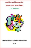 Addition and Subtraction Worksheets and Centers - 130 Problems