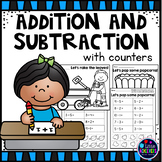 Addition and Subtraction within 10 Worksheets Using Counters