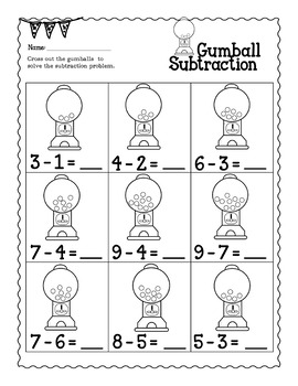 Addition and Subtraction Worksheets for Kindergarten   Add ...