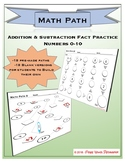 Addition and Subtraction Worksheets to 10 Fact Practice - Math Path