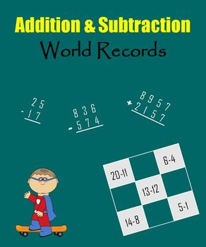 Addition and Subtraction:  World Records