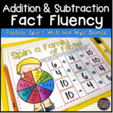 Addition and Subtraction Fact Fluency Games