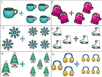 Addition and Subtraction Write the Room WINTER