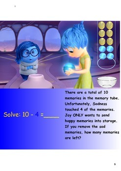 Addition and Subtraction activities with Disney's Inside Out! Printables
