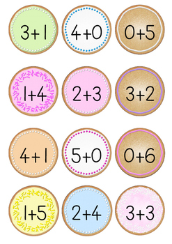 Addition and Subtraction cookie jar sums