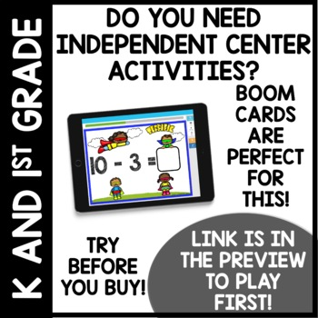 Addition and Subtraction facts to 10 BOOM CARDS