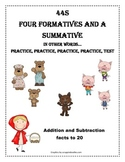 Addition and Subtraction facts to 20 - Fairy Tale Theme