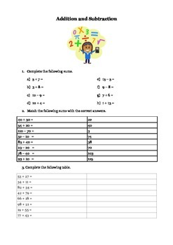 Addition and Subtraction for 3rd Grade