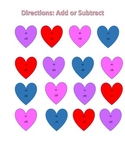 Addition and Subtraction for Valentine's Day