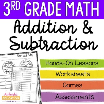 3rd Grade Addition and Subtraction Unit - Math Workshop