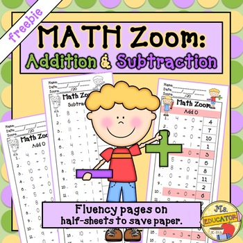 Addition and Subtraction  *freebie*