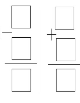 Addition and Subtraction (horizontal and vertical) cards activity