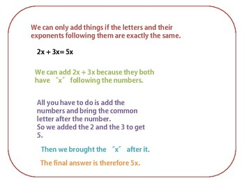 Addition and Subtraction in Algebra lesson plan