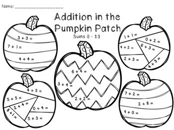 Addition and Subtraction in the Pumpkin Patch