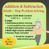 Addition Problem Solving Subtraction Problem Solving