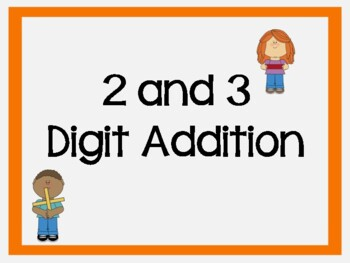 Addition and Subtraction of 2 and 3 digit numbers with number bond mats!