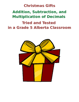 Addition and Subtraction of Decimals: Christmas Style