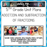 Addition and Subtraction of Fractions 5.3A 5.3H 5.3K 5.4F