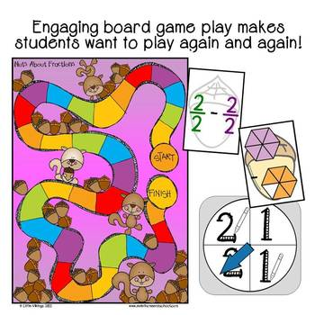 Addition and Subtraction of Fractions Board Game