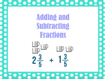 Addition and Subtraction of Fractions FlipChart