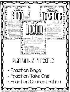 Addition and Subtraction of Fractions: 10 Print and Go Math Centers