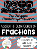 Addition and Subtraction of Fractions: 10 Print and Go Mat