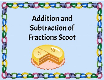 Addition and Subtraction of Fractions Scoot