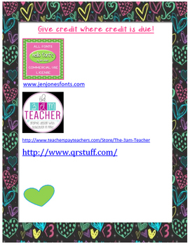 Addition and Subtraction of Fractions--Valentine's Day