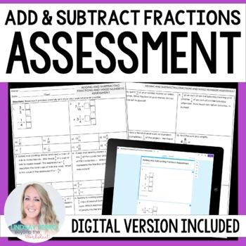 Fraction Operations Assessment