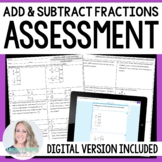 Fraction Operations Assessment