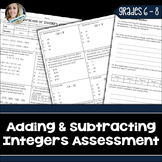 Integer Operations Assessment