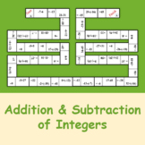 Addition and Subtraction of Integers (Dominoes)