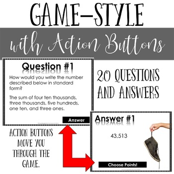 Addition and Subtraction of Whole Numbers and Decimals Review Game Stinky Feet