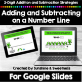 Addition and Subtraction on an Open Number Line for Google Slides