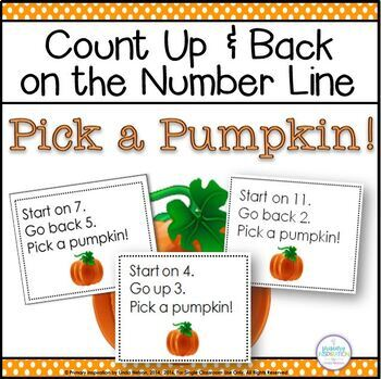 addition and subtraction on the number line pick a pumpkin tpt