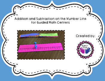 Addition and Subtraction on the Number Line for Guided Mat