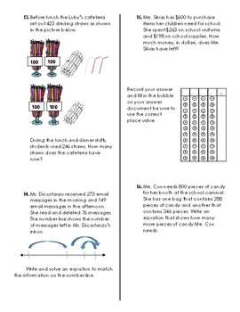 Addition and Subtraction one and multi-step review 3.4A &3.5A