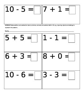 Addition and Subtraction review