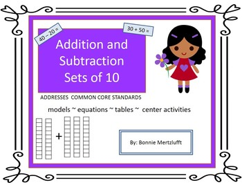 Addition and Subtraction sets of 10