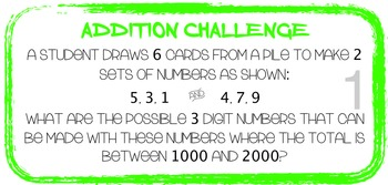 Number: Addition/Subtraction task cards, assessment & rubric AUSTRALIAN Curric