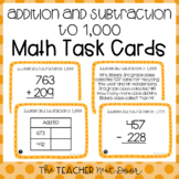 Addition and Subtraction to 1,000 Task Cards| Addition and Subtraction Center
