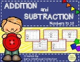 Addition and Subtraction to 10: Cut and Use Counters