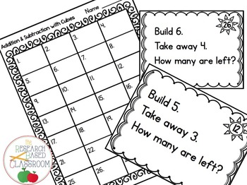 Addition and Subtraction to 10 - Independent Task Card Practice